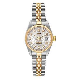 Rolex Datejust Steel Yellow Gold Diamond Dial Ladies Watch 79173