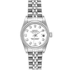 Rolex Datejust Steel White Gold White Diamond Dial Ladies Watch 79174