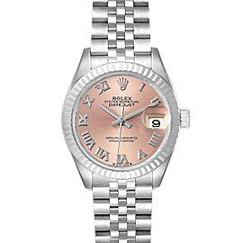 Rolex Datejust 28 Steel White Gold Pink Dial Ladies Watch 279174