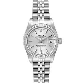 Rolex Datejust 26 Steel White Gold Silver Dial Ladies Watch 79174 Box Papers