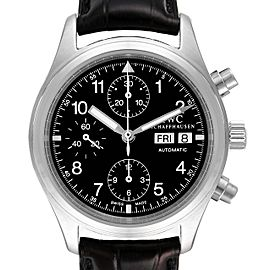 IWC Pilot Flieger Chronograph Day Date Automatic Mens Watch IW370603