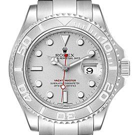 Rolex Yachtmaster 40 Steel Platinum Dial Bezel Mens Watch 16622