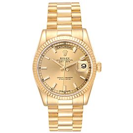 Rolex President Day Date 36mm Yellow Gold Mens Watch 118238