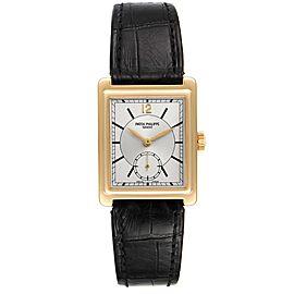 Patek Philippe Gondolo 18K Yellow Gold Silver Dial Mens Watch 5010