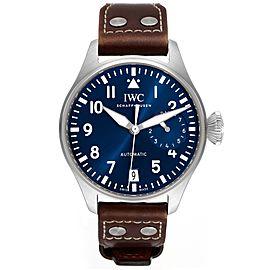 IWC Pilot Le Petit Prince Big Pilots Blue Dial Steel Mens Watch IW501002