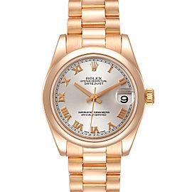 Rolex President Datejust Midsize 31 Rose Gold Ladies Watch 178245