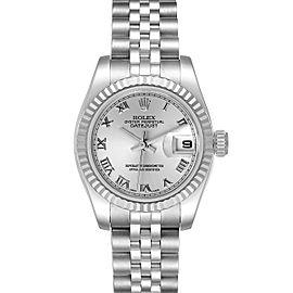 Rolex Datejust Steel White Gold Silver Dial Ladies Watch 179174