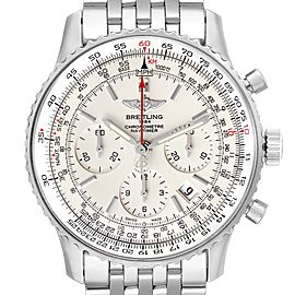 Breitling Navitimer 01 Limited Edition Silver Dial Steel Mens Watch AB0123