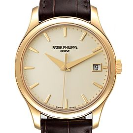 Patek Philippe Calatrava Hunter Case Yellow Gold Mens Watch 5227 Unworn