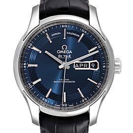 Omega DeVille Hour Vision Blue Dial Steel Watch 433.33.41.22.03.001
