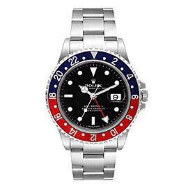 Rolex GMT Master II Error Dial Pepsi Bezel Steel Mens Watch 16710