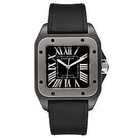 Cartier Santos 100 Black PVD Steel Mens Watch W2020010