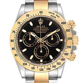 Rolex Daytona Steel Yellow Gold Black Dial Mens Watch 116523