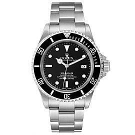 Rolex Seadweller 4000 Black Dial Steel Mens Watch 16600 Box Papers