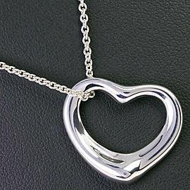 TIFFANY & Co. Silver Elsa Peretti Open heart Necklace