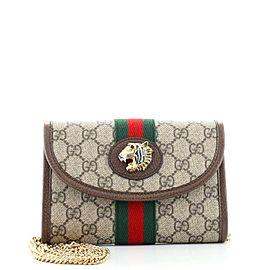 Gucci Rajah Web Chain Shoulder Bag GG Coated Canvas Mini