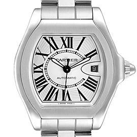Cartier Roadster Silver Dial Steel Mens Watch W6206017