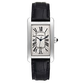 Cartier Tank Americaine 18K White Gold Large Silver Dial Mens Watch W2603256