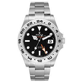 Rolex Explorer II 42 Black Dial Orange Hand Steel Watch 216570