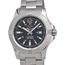 BREITLING Colt A17388 Chronometer Black Dial SS Automatic Men's Watch