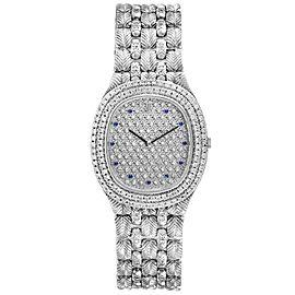 Audemars Piguet White Gold Sapphire Diamond Dial Unisex Watch 56478