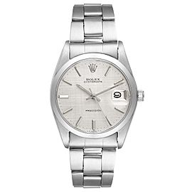 Rolex OysterDate Precision Linen Dial Steel Vintage Mens Watch