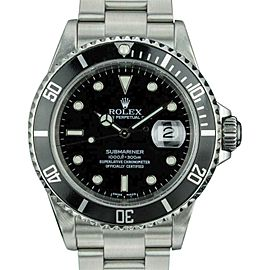 Rolex Submariner 16610 Stainless Steel & Black Dial 40mm Mens Watch