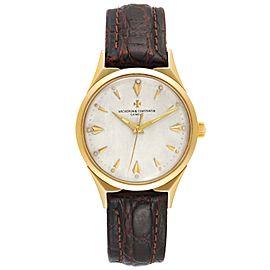 Vacheron Constantin 35 mm 18k Yellow Gold Silver Dial Vintage Mens Watch