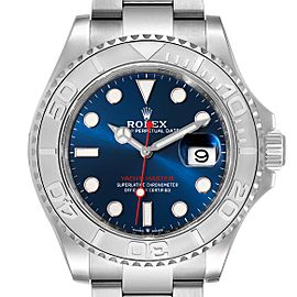Rolex Yachtmaster Stainless Steel Platinum Blue Dial Watch 126622