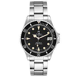 Tudor Submariner Prince Date Black Dial Steel Mens Watch 75090