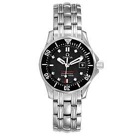 Omega Seamaster Black Dial Diamond Ladies Watch 212.30.28.61.51.001
