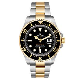 Rolex Seadweller Black Dial Steel Yellow Gold Mens Watch 126603 Unworn