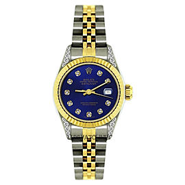 Rolex Datejust Stainless Steel & 18K Yellow Gold Diamond 26mm Watch