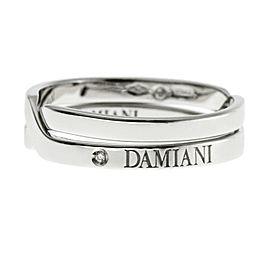 Damiani 18K White Gold Diamond Ring Size 6.5
