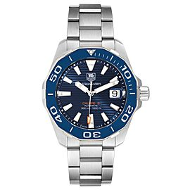 Tag Heuer Aquaracer Blue Dial Automatic Steel Mens Watch WAY211C