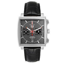 Tag Heuer Monaco Grey Dial Limited Steel Mens Watch CAW211J Unworn