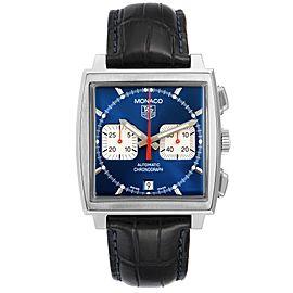 Tag Heuer Monaco Automatic Chronograph Blue Dial Mens Watch CW2113