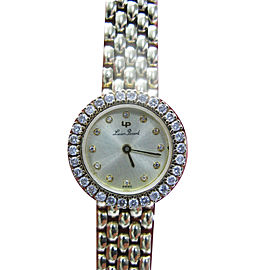 Lucien Piccard Circular Diamond 14K Yellow Gold Watch