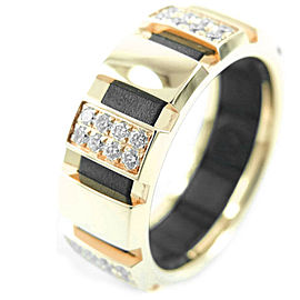 Chaumet 18k yellow gold/diamond Class one Ring