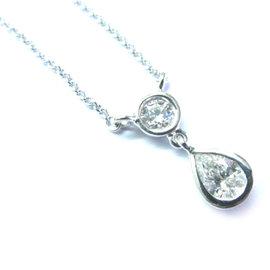 Vera Wang 18K White Gold & Diamond Necklace