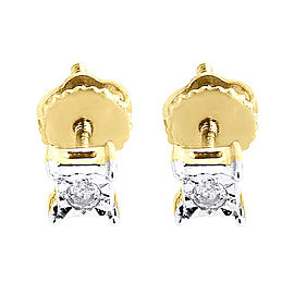10K Yellow Gold & 0.05 ct Diamond Fashion Studs Earrings
