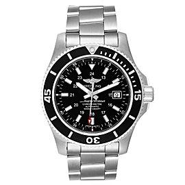 Breitling Superocean II 44 Black Dial Steel Mens Watch A17392