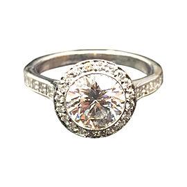Tiffany & Co. Platinum Bead Border Set Diamond Engagement Ring