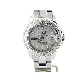 Rolex Stainless Steel Platinum Yacht-Master Date 69622 Watch