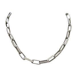 Tiffany & Co. 18K White Gold & 1.80ctw. Diamond Rope Necklace
