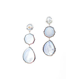 Ippolita 925 Sterling Silver Blue Crazy 8 Rock Candy Drop Earrings