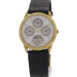 Piaget 18K Yellow Gold Perpetual Calendar Moonphase 15958 Watch