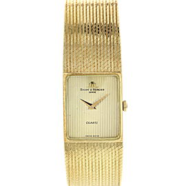 Baume Mercier Quartz 14K Yellow Gold Vintag Unisex Watch