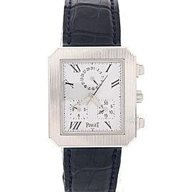 Piaget 14254 Protocol 18K White Gold Mens Watch