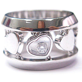 Chopard 18K Diamonds Heart Wide Ring White Gold